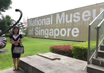 Dr Joy Chan at the National Museum of Singapore where she conducted an eye health talk to National Heritage Board's staff.