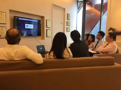 """Senior ophthalmologists and optometrists participating in the """"Electrophysiological Tests for the Eye"""" webinar in International Eye Cataract Retina Centre on 4 May 2017."""
