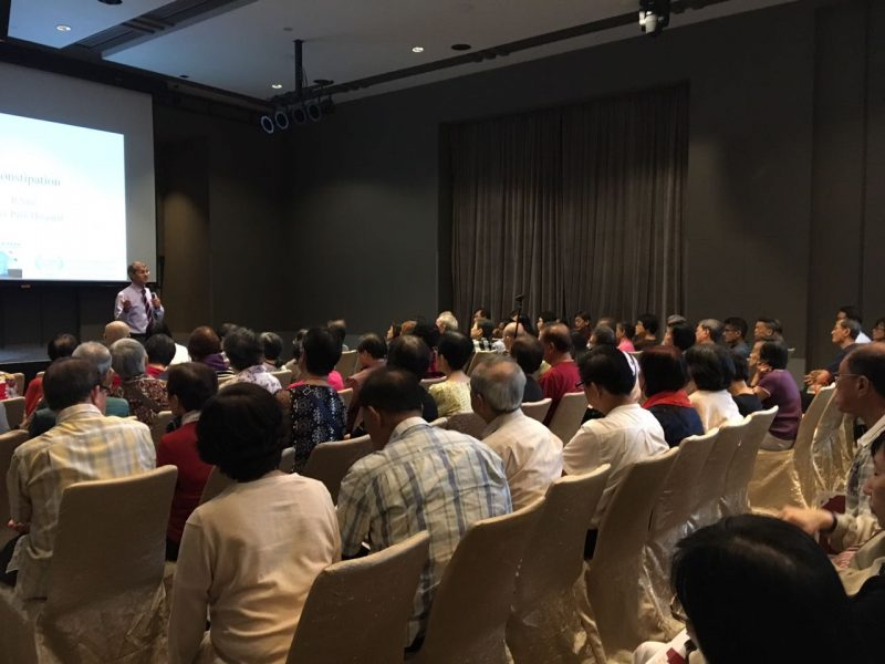 """Dr Ajeet Madhav Wagle speaking to participants at the """"Better Health, Living Well"""" free public forum organised by Farrer Park Hospital on 24 June 2017."""