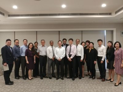 Dr Ajeet Madhav Wagle with other members of the Polypoidal Choroidal Vasculopathy Advisory Board and staff from Novartis (Singapore) Pte Ltd during the advisory board meeting on 18 November 2017 in Hilton Singapore.
