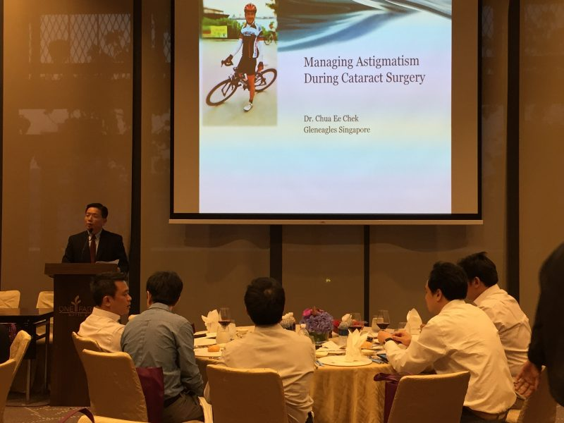 "Dr Au Eong Kah Guan chairing the symposium on ""Advances in Computer-assisted Cataract Surgery"" at One Farrer Hotel & Spa on 2 August 2017."