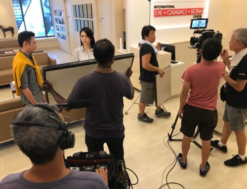 Mediacorp Shoots New TV Series  in International Eye Cataract Retina Centre
