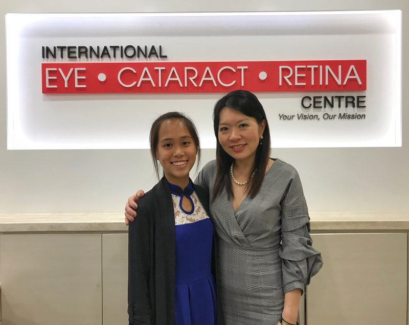 Dr Joy Chan (right) and I at the International Eye Cataract Retina Centre.