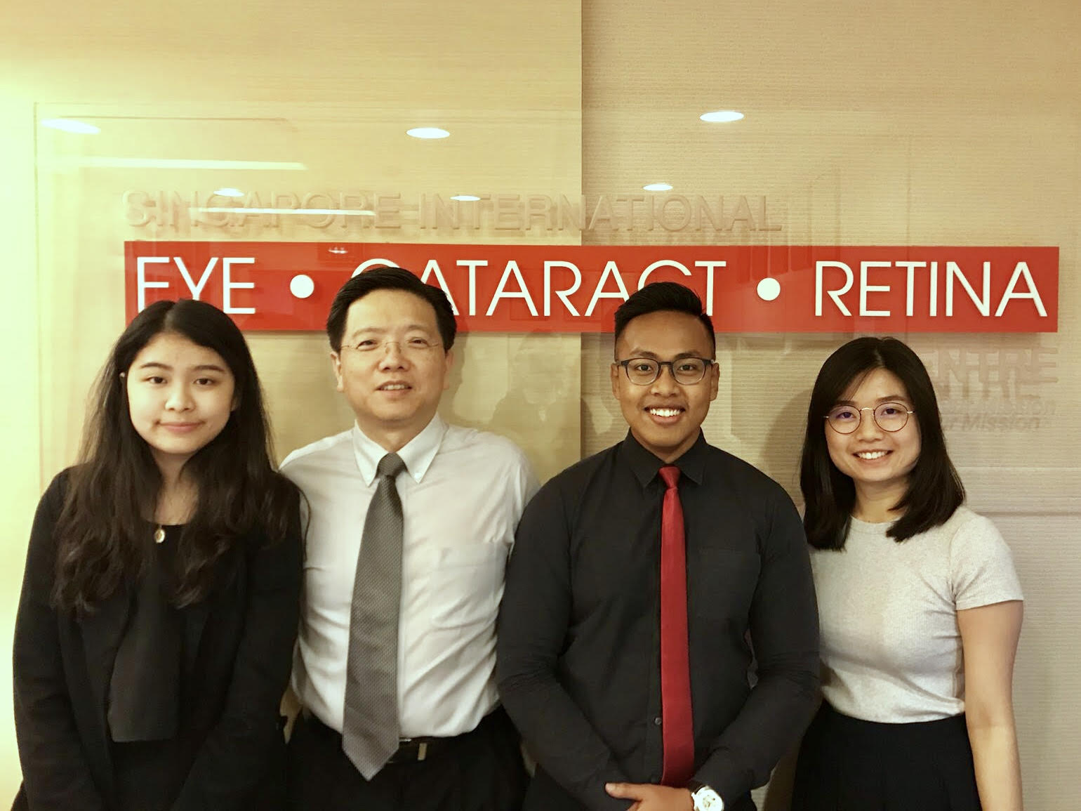 Team and I (third from left) at Singapore International Eye Cataract Retina Centre in Mount Elizabeth Medical Centre