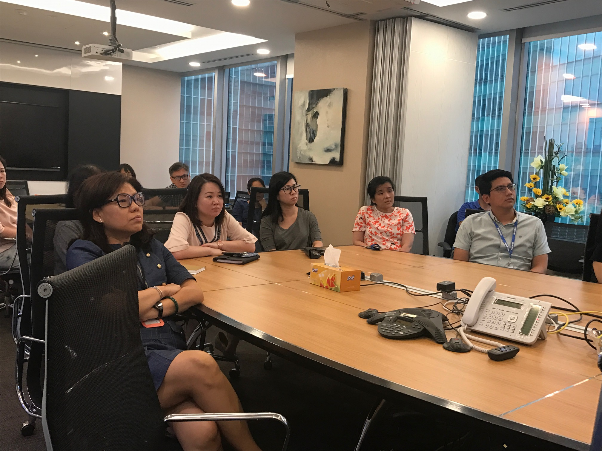 Staff from Lockton (Singapore) listening attentively to Dr Joy Chan as she conducted her talk on 3 August 2018
