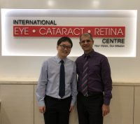 Dr Ajeet Madhav Wagle (R) and I at International Eye Cataract Retina Centre in Farrer Park Medical Centre