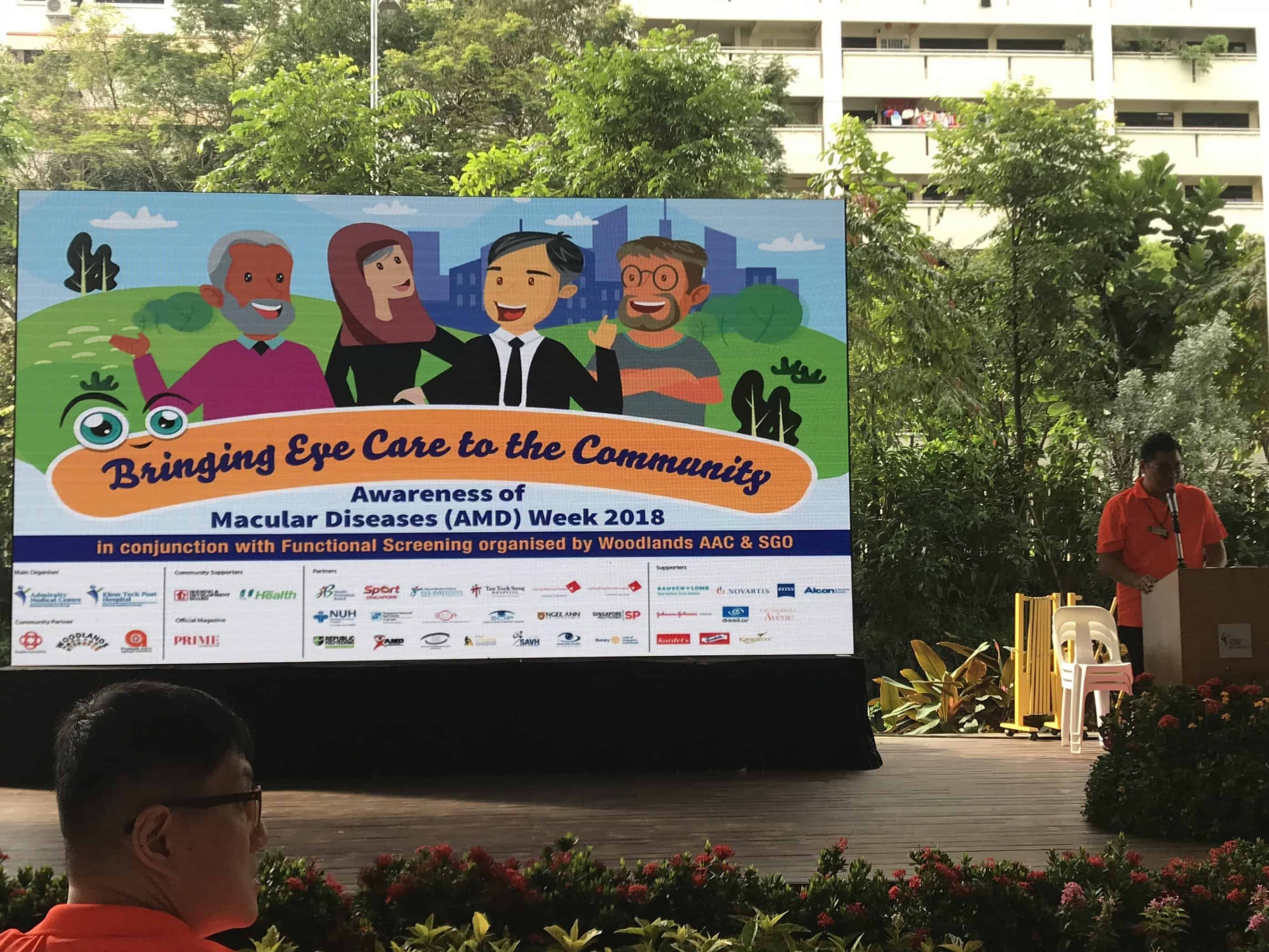 The Eye and Vision Heath Awards 2018 were presented at the Awareness of Macular Diseases (AMD) Week 2018 held in Kampong Admiralty on 13 October 2018