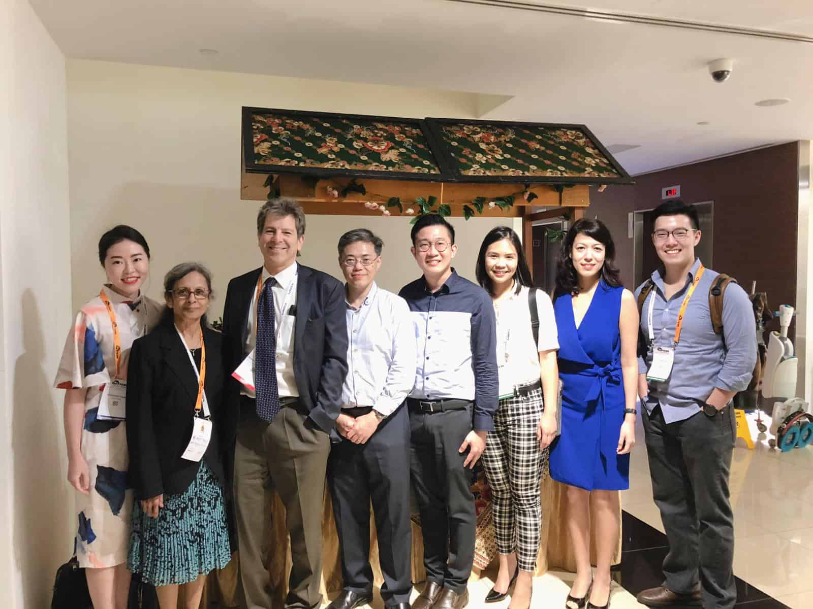 Dr Shantha Amrith (second from L) with friends and colleagues at the 5th International Thyroid Eye Disease Society (ITEDS) Symposium held on 20-23 February 2019 in Singapore